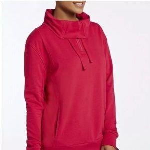 Fabletics Cowl Neck Sweatshirt in Pink, size XL